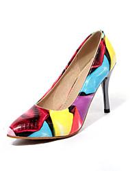 Zapatos de mujer - Tacón Stiletto - Tacones - Tacones - Boda / Oficina y Trabajo / Vestido / Casual - PVC / Semicuero -Negro / Amarillo /