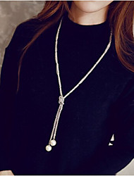 New Arrival Fashion Jewelry Popular Simple Pearl Long Necklace