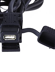 usb moto motocicleta cargador de enchufe de puerto fuente de alimentación para el teléfono celular 12v / 24v