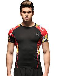 Vansydical Per uomo Asciugatura rapida Fitness Top Giallo / Rosso / Blu