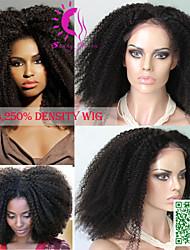 250% 6a densidade da Malásia rendas completo perucas de cabelo humano afro encaracolado Kinky glueless rendas completo perucas de cabelo
