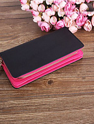 Unisex Cowhide Bi-fold Clutch / Wallet / Card & ID Holder / Wristlet / Mobile Phone Bag / Checkbook Wallet
