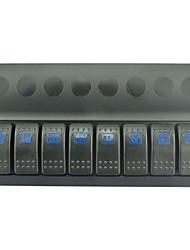 iztoss привело 8 банды брызг водонепроницаемый панель Rocker Switch с синим светодиодные индикаторы для контроля моста морской катер