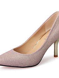 Women's Shoes Stiletto Heel Heels / Pointed Toe / Closed Toe Heels Dress / Casual Pink / Silver