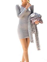 em torno do pescoço bodycon mini vestido das mulheres (mais cores)