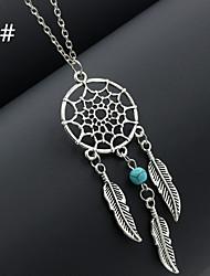 Женский Ожерелья с подвесками Сплав Перо Мода 2 # 3 # 4 # 5 # 6 # Бижутерия Свадьба Для вечеринок Повседневные 1шт
