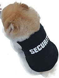 Dog / Cat Shirt / T-Shirt Black Summer Police/Military Wedding / Cosplay / Fashion