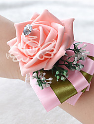 "Wedding Flowers Round Roses Wrist Corsages Wedding Satin 3.15""(Approx.8cm)"