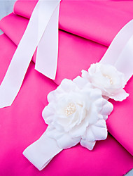 Satin Wedding / Party/ Evening / Dailywear Sash-Appliques / Floral / Ruffles Women's 98 ½in(250cm) Appliques / Floral / Ruffles