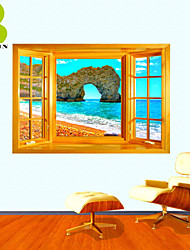 3D Wall Stickers Wall Decals, Natural Landscape Decor Vinyl Wall Stickers