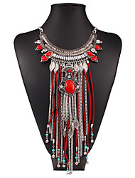 Zoey Women Necklace , Vintage / Party / Casual Alloy / Rhinestone / Beaded