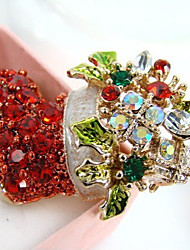 New Arrival Fashion Jewelry Rhinestone Leaf Shoe Brooch