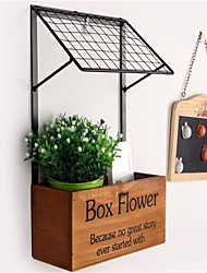 Fashion Decorative Crafts Goods Shelf  Wooden Kitchen Storage Wall Flower Shelf