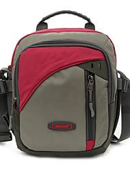 Men Nylon Messenger Shoulder Bag - Purple / Blue / Red