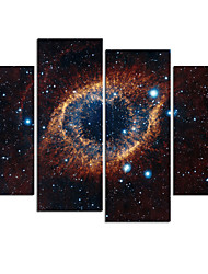 VISUAL STAR®4 Panel Galaxy Canvas Print Stretched and Framed Canvas Art Ready to Hang