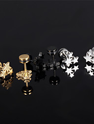 Men's Women's Stud Earrings Costume Jewelry Titanium Steel Star Jewelry For Wedding Party Daily Casual Sports