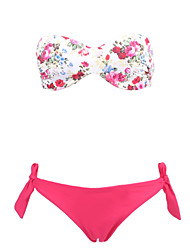 Women's Bandeau Push Up Floral Beach Wear Swimwear Bikini