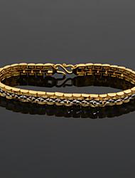 Pulseiras em Correntes e Ligações ( Prata Chapeada / Chapeado Dourado ) - Casamento / Pesta / Diário / Casual / Esportes / N/D