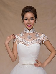Wedding  Wraps Collars Sleeveless Sequined Ivory Wedding Appliques / Crystal / Pearls