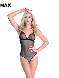 XFMAX Hot Black Mesh Open Crotch  Dress Bodystocking Sexy Lingerie