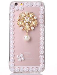 perle 1 TPU + affaire pc transparent pour iphone6,6s