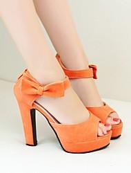 Women's Shoes Heel Heels / Platform Sandals / Heels Office & Career / Dress / Casual Black / Pink / Almond / Orange