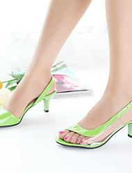 Women's Shoes Heel Heels / Peep Toe Sandals / Heels Outdoor / Dress / CasualBlack / Blue / Yellow / Green / Pink /
