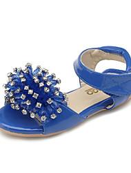 Sandalias ( Azul ) - Comfort / Talón Descubierto / Punta Redonda / Punta Abierta - Semicuero