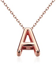 Fashion Generous Geometry Character A-Drop Gold-Plated Pendant Necklace(Rose Gold)(1PC)