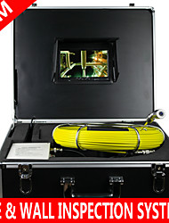 "7""Mon 80M Drain Sewer Waterproof Camera Pipe Pipeline Snake Inspection System with 12 LED Pipe Inspection System"
