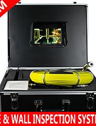 """7 """"mon 80m Drain Abwasserwasserdichte Kamera Rohr Pipeline Schlange Inspektionssystem mit 12 führte Rohrinspektionssystem"""