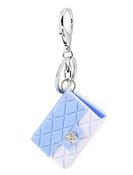 2016 doces carro cor de jóias com bolsa de chaveiro de plástico marcada encanto bolsa pingente cadeia anel chave cabide