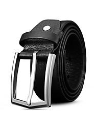 SL Men Belts Vintage Genuine Leather Unique Design Top Layer Cowhide Business Waist Belt with Alloy Pin Buckle