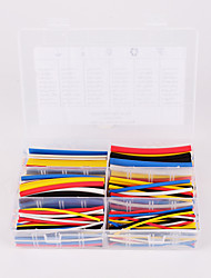 Iztoss 180pcs 90mm 2:1 ratio 6 Size Φ1.6-9.5 0.8mm-4.8mm Polyolefin Heat Shrink Tubing sleeve Cable wrap Kit