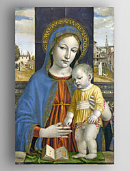 Oil Painting Giovanni Santi - The Virgin and Child Hand Painted Canvas with Stretched Framed