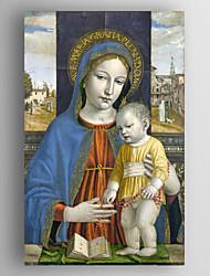 картина маслом Джованни Санти - Богородица и младенец ручной росписью холст с растянутыми обрамленные