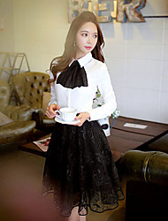 Hauts & Chemisiers ( Polyester ) Travail Col chemise à Manches longues pour Femme