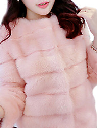 Faux Fur Outerwear , Lined