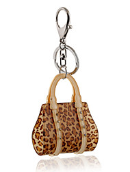 2016 Crystal Key Chain Leopard Handbag Jewelry Car keychain Women Charm Holder Key Ring Wholesale