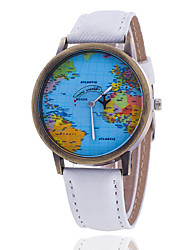 Xu™ Women's Fashion The World Map Denim Belt Quartz Watch Cool Watches Unique Watches