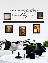 Wall Stickers Wall Decals Style Picture Story English Words & Quotes PVC Wall Stickers