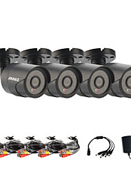 Annke® Infrared CMOS Real 800TVL CCTV Camera HD Infrared Surveillance Camera Indoor/outdoorSecurity Bullet Camera 4pcs
