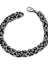Maya Fashion Generous Personality Complex Men Stainless Steel Chain & Link Bracelets(Black)(1Pcs)
