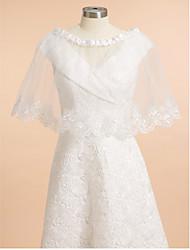 Wedding  Wraps Shrugs Sleeveless Tulle Ivory Wedding / Party/Evening