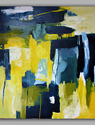 Abstract Mixed Color Blue and Yellow
