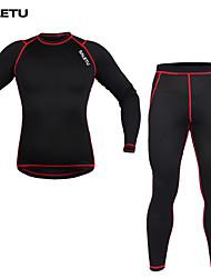 Ciclismo Set di vestiti/Completi / Livelli Base Unisex Bicicletta Tenere al caldo / Compressione Maniche lunghe ElasticoElastene /
