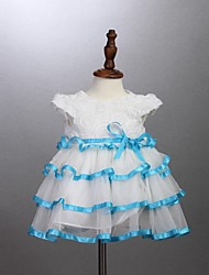Girl's White Dress,Jacquard Cotton Summer