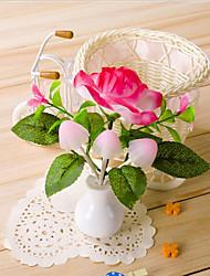 jour caricature cadeau vase champignon rêve table de pivoine lampe coloré de lumière exploité la lumière de valentine conduit