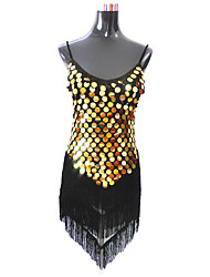 Latin Dance Dresses Women's Performance Polyester / Sequined Tassel(s) 1 Piece 6 Colors