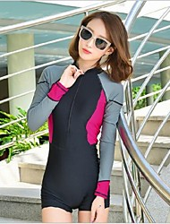 Women's Dive Skins Wetsuit Skin Shorty Wetsuits Waterproof Ultraviolet Resistant Softness Full Body Chinlon Diving Suit Long SleeveDiving